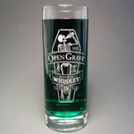 Open Grave Whiskey collins glass