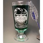 Cthulhu Absinthe etched glass