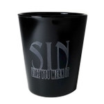 Sin Like You Mean It shot glass (black)
