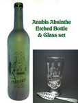 Anubis Absinthe Bottle & Glass Set