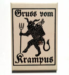 Greetings From Krampus magnet