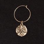 Small round Cthulhu pendant