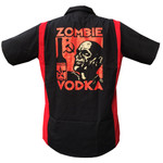 Zombie Vodka red/black work shirt