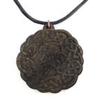 Cthulhu Knot Wooden Pendant