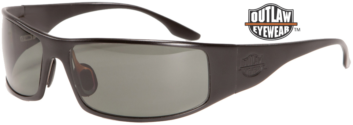 OutLaw Eyewear Fugitive Black frame aluminum sunglass sale