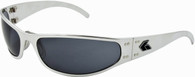 Gatorz Radiator Motorcycle Sunglass Polished Aluminum frame Gray lenses