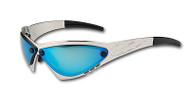 Eliminator Billet Aluminum Sunglasses - Blue Chrome lenses