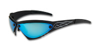Eliminator Billet Aluminum Sunglasses - Blue Chrome lensesby Advanced Technology Gear