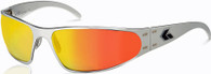 Gatorz Wraptor Polished Aluminum frame with Sunburst fire lenses