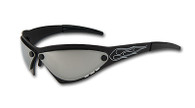 Eliminator Billet Aluminum Sunglasses - Chrome lenses EliminatorBlackChrome
