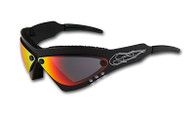 Wind Warrior Billet Aluminum Sunglasses - Cherry Chrome lenses