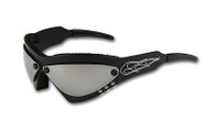 Wind Warrior Billet Aluminum Sunglasses - Chrome lenses WindWarBlackChrome