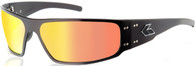 Gatorz Magnum Sunglass Black frame with Sunburst lenses