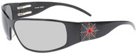 OutLaw Eyewear Tornado Spider Sunglass for Motorcycle Riding, Extra Dark Transition day-night lenses