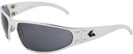 Gatorz Wraptor and Motorcycle Billet Aluminum sunglasses, Polished Aluminum frame Gray Polarized lenses