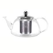 Glass Tea Pot with Stainless Steel Infuser, 800ML, Wide