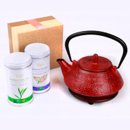 Cast Iron Tea Pot Gift Set 0.8L