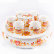 Ceramic Tea Set With Tray - 4