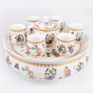 Ceramic Tea Set With Tray - 5