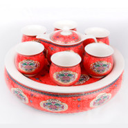 Ceramic Tea Set With Tray - 6