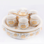 Ceramic Tea Set With Tray - 8
