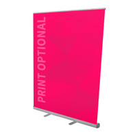 "57"" Retractable Roll Up Banner Stand"