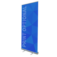 "33"" Retractable Roll Up Banner Stand"