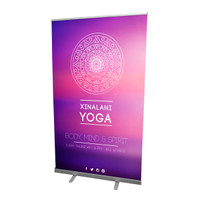 "47"" Retractable Roll Up Banner Stand with Print"