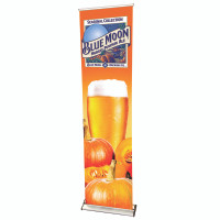 "24"" Retractable Roll Up Pro Line Banner Stand with Print"
