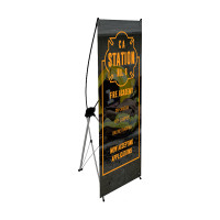 "24"" X Banner Stand with Print"
