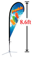 8' Custom Teardrop Advertising Flag Kit