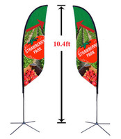 10' Double Sided Custom Feather Advertising Flag Kit
