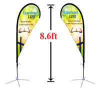 8' Double Sided Custom Teardrop Advertising Flag Kit