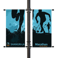 "24"" Street Light Pole Banner Double Bracket Set"