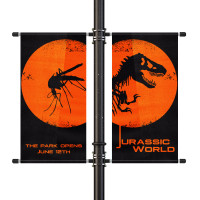 "30"" Street Light Pole Banner Double Bracket Set"