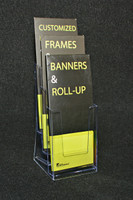 "3 Pocket 4""x9"" Trifold Brochure Holder"