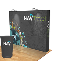 10ft. Stretch Fabric Pop Up Display for Trade Shows