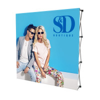 8ft. Stretch Fabric Pop Up Display for Trade Shows