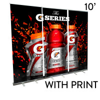 10' Roll Up Banner Stand Wall - Economy Trade Show Backdrop