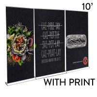 10' Roll Up Banner Stand Wall - Professional Plus Trade Show Backdrop