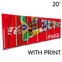 20' Roll Up Banner Stand Wall - Economy Trade Show Backdrop