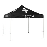 Trade Show Canopy 10x10 Tent Custom Logo - Black