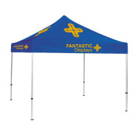 Trade Show Canopy 10x10 Tent Custom Logo - Blue