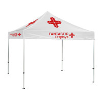 Trade Show Canopy 10x10 Tent Custom Logo - White