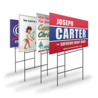 Custom Printed Yard Signs with Stake