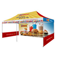 Full Color Custom Trade Show Canopy 20x10ft. Event Tent