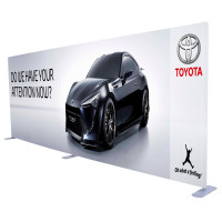 20ft. Straight Fabric Tube Large Trade Show Display