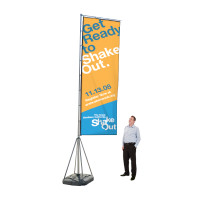 Giant Custom Flag Advertising Kit with Banner Print