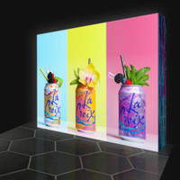 10ft. LED Backlit Pop Up Display - Silicone Edge Graphics