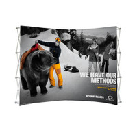 10ft. Curved Tension Fabric Pop Up Display for Trade Shows